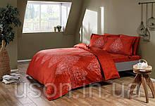 Комплект постельного белья Тм Тас сатин digital полуторный размер Caledon red