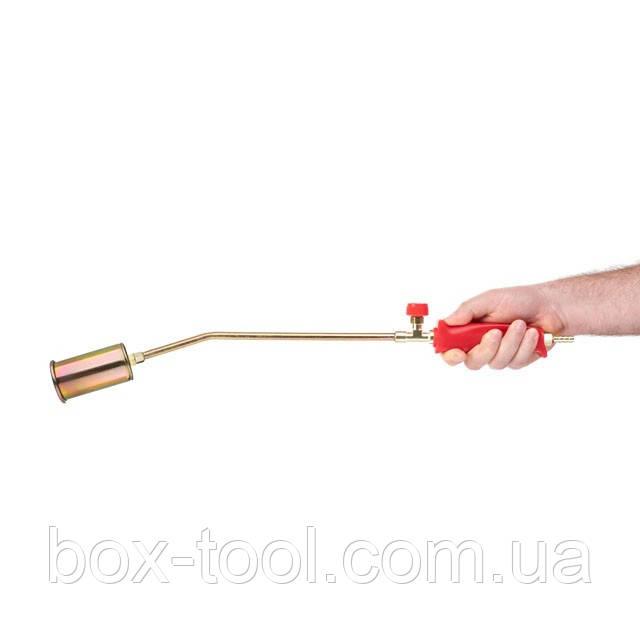 Пальник газовий з регулятором 595мм, сопло 110мм, Ø45мм. INTERTOOL GB-0040