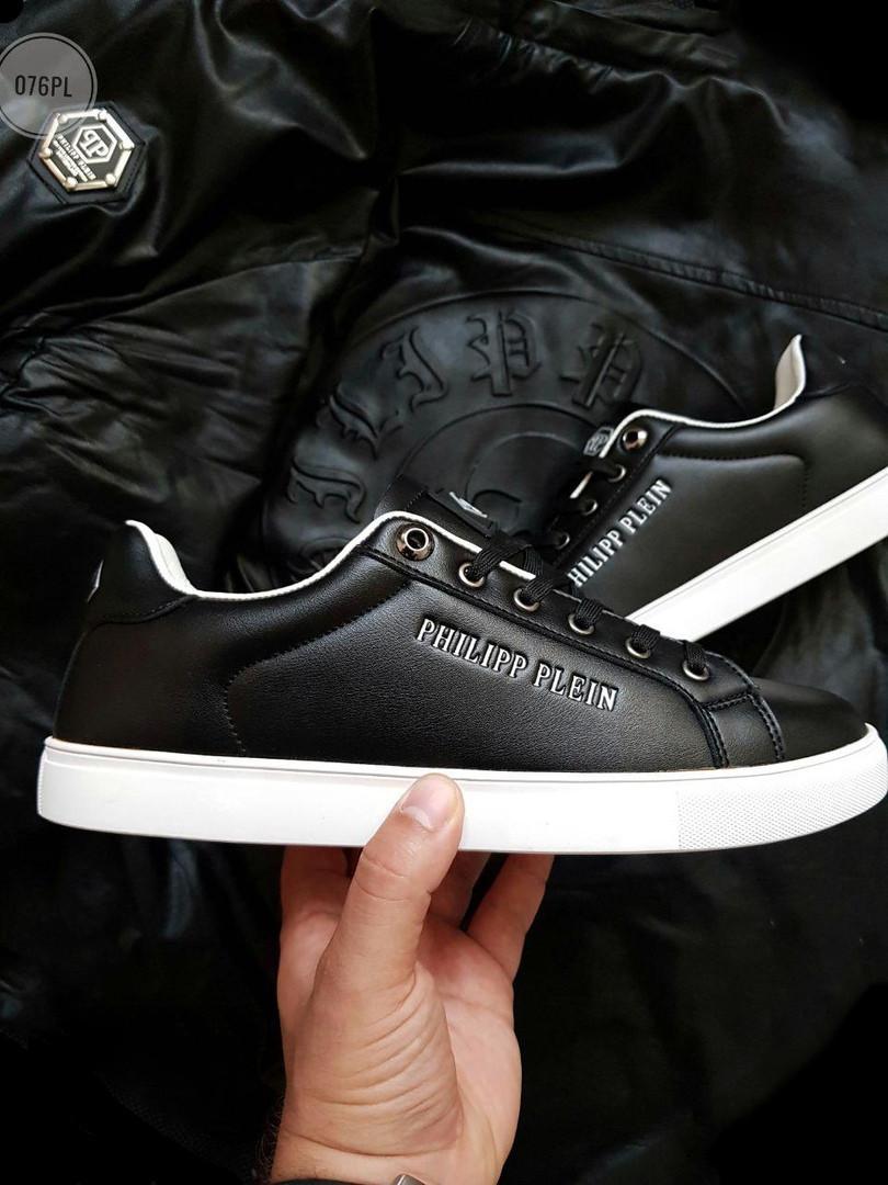 Мужские кроссовки Philipp Plein (черные) 076PL