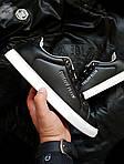 Мужские кроссовки Philipp Plein (черные) 076PL, фото 2