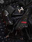 Мужские кроссовки Gucci (черные) 070PL, фото 5