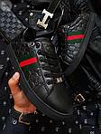 Мужские кроссовки Gucci (черные) 070PL, фото 6