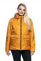 Женская куртка удобная стильная демисезонная большого размера 44-56 р желтый, синий, красный цвет