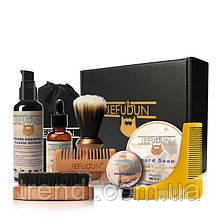 Стильний подарунковий набір по догляду за бородою та вусами Sefudun, 9 предметів