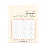Стикеры для французского маникюра The Saem Saemmul French Nail Guide Sticker 02.Love (8806164121061)