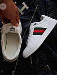 Мужские кроссовки Gucci (белые) 072PL, фото 5