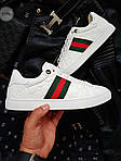 Мужские кроссовки Gucci (белые) 072PL, фото 7
