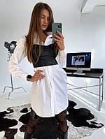 Женское платье-рубашка и топ в расцветках. ЛД-2-0220(839)