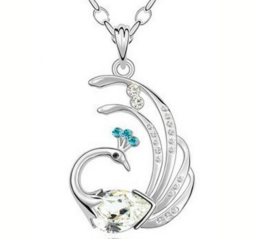 """Большой красивый медальон кулон ожерелье подвеска QQ5 кулончик амулет оберег талисман украше""""Павлин"""" в стразах"""