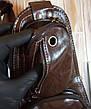 Кожаная сумка-рюкзак на плечо мужская Jeep темный-шоколад (Реальные фото), фото 3