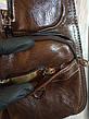 Кожаная сумка-рюкзак на плечо мужская Jeep темный-шоколад (Реальные фото), фото 5