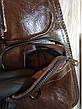 Кожаная сумка-рюкзак на плечо мужская Jeep темный-шоколад (Реальные фото), фото 6
