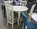 Стол круглый Лион венге 100(+40)*100 обеденный раскладной деревянный, фото 9