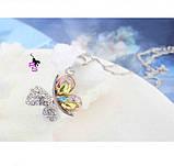 Яркий медальон кулон ожерелье подвеска QQ5 кулончик амулет оберег талисман украшение колье - бабочка с стразах, фото 2