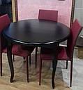 Стол круглый Лион орех 100(+40)*100 обеденный раскладной деревянный, фото 7