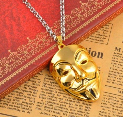 Позолоченный медальон кулон брелок подвеска QQ5 кулончик амулет оберег талисман украшение на шею Анонимус 6614