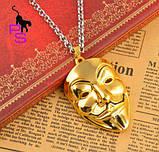 Позолоченный медальон кулон брелок подвеска QQ5 кулончик амулет оберег талисман украшение на шею Анонимус 6614, фото 2