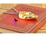 Позолоченный медальон кулон брелок подвеска QQ5 кулончик амулет оберег талисман украшение на шею Анонимус 6614, фото 3