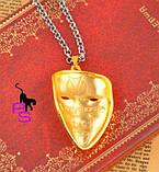 Позолоченный медальон кулон брелок подвеска QQ5 кулончик амулет оберег талисман украшение на шею Анонимус 6614, фото 4