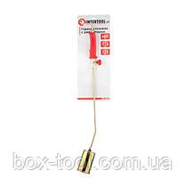 Горелка газовая с регулятором и клапаном 715мм, сопло 125мм, Ø60мм. INTERTOOL GB-0046, фото 2