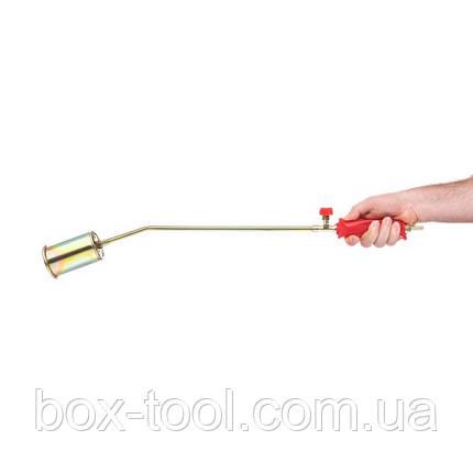 Горелка газовая с регулятором и клапаном 830мм, сопло 138мм, Ø76мм. INTERTOOL GB-0047, фото 2
