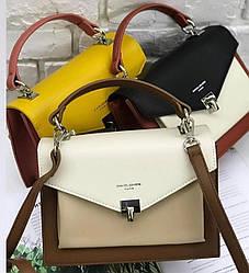 Женская сумка клатч David Jones, молочная / жіноча сумка