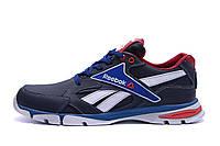 Мужские кожаные кроссовки Reebok Street Style Blue (реплика), фото 1
