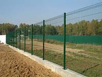 Металлический секционный забор с ПВХ