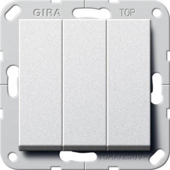 Выключатель 3-кл. GIRA System 55 алюминий