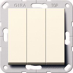 Выключатель 3-кл. проходной GIRA System 55 кремовый