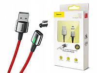 Кабель магнитный Baseus Zinc Magnetic Cable USB For iPhone \ lightning 2.4A 1m Red (CALXC-A09)