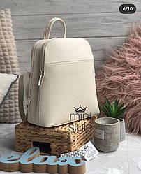 Городской женский рюкзак David Jones, молочный / жіночий рюкзак