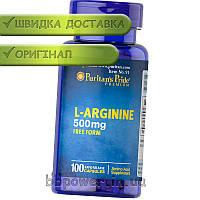 Аминокислота Puritan's Pride L-Arginine 500 mg 100 капс