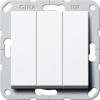 Выключатель 3-кл. проходной GIRA System 55 белый