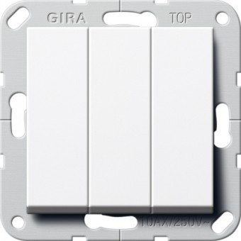 Выключатель 3-кл. GIRA System 55 белый