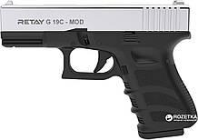 Пистолет стартовый Retay G 19C кал. 9 мм. Цвет - nickel. ( На складе )