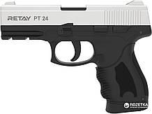 Пистолет стартовый Retay PT24 кал. 9 мм. Цвет - chrome. ( На складе )