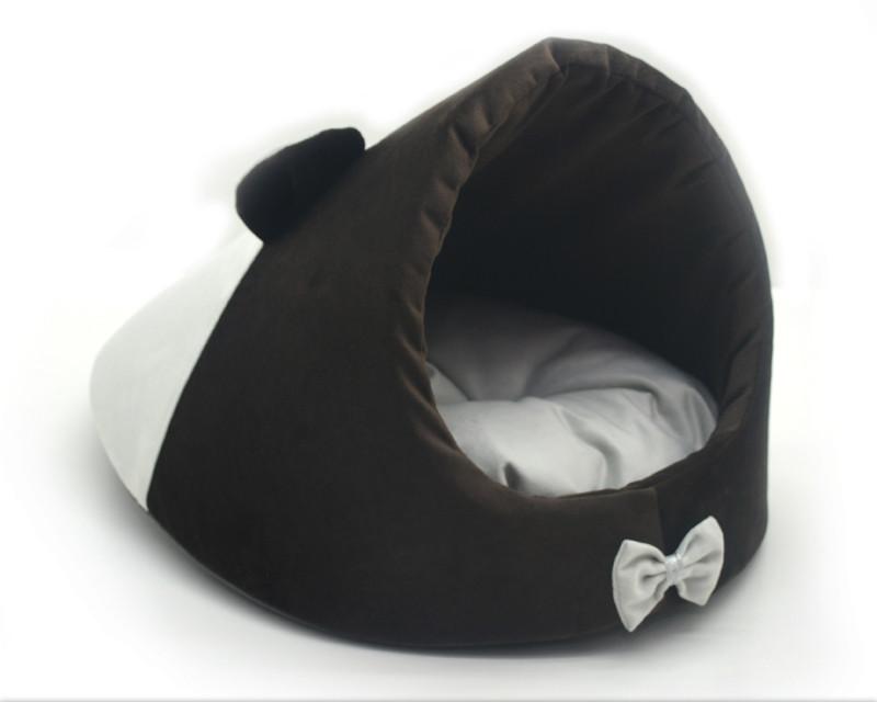 Будка для котов и собак Мистик-мышка №1 30х45х30 см коричневая