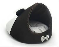 Будка для котов и собак Мистик-мышка №1 30х45х30 см коричневая, фото 1
