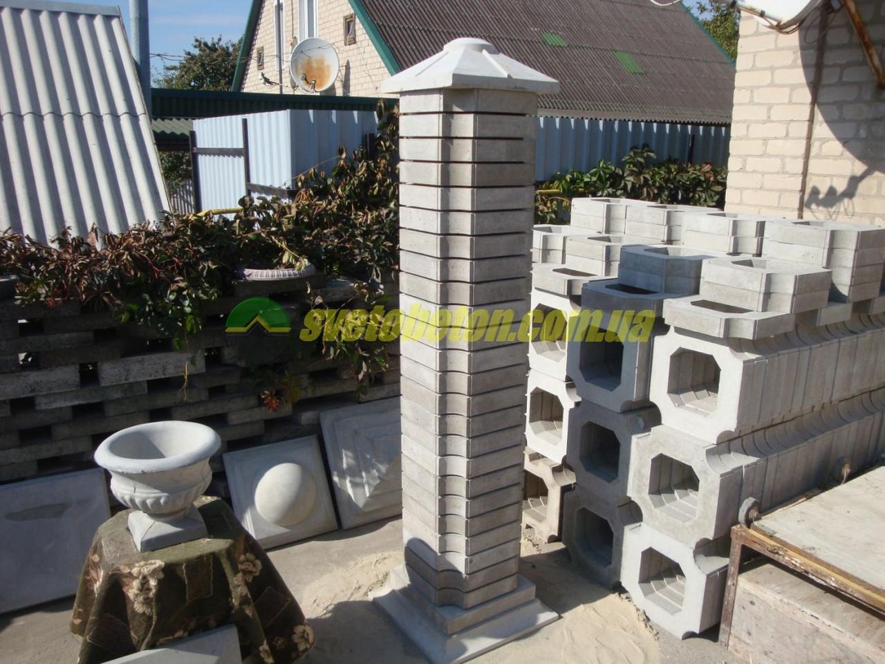 Наборный столб для забора из бетона купить технологическая карта бетона