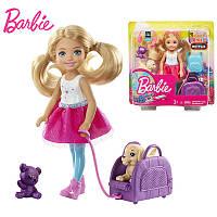 Кукла Челси путешественница Барби Barbie Travel Chelsea Doll mattel
