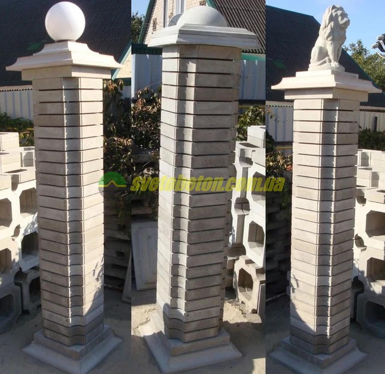 Наборной столб бетонный декоративный элемент блок наборной заменитель кирпича для столба, ускоренная кладка.