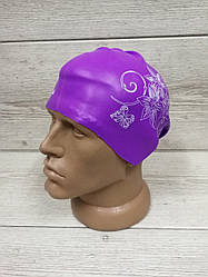 Шапочка для длинных волос Фиолетовая