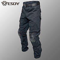 """🔥 Тактические брюки с наколенниками """"Esdy"""" (черные) штаны, для полиция, полиции, милитари, боевые, карго"""