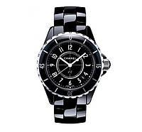 Часы женские Chanel J12 Ceramica 36mm Black. Реплика Premium качества (ААА)