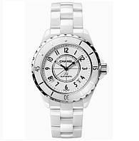 Часы женские Chanel J12 Ceramica 36mm White. Реплика Premium качества (ААА).
