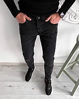 Джинсы мужские Snoup Slim X black ЛЮКС качество / джинсовые штаны весенние / осенние