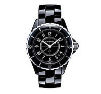 Часы женские Chanel J12 Ceramica 40mm Black. Реплика Premium качества (ААА)