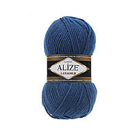 Полушерстяная пряжа (49%-шерсть,51%-акрил,100г/240м) Alize Lanagold 155(тёмно-бирюзовый)