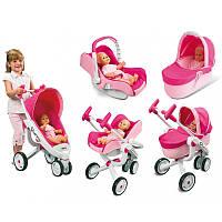 Коляска трансформер для куклы 4 в 1 Maxi Cosi Quinny Smoby 550389 игрушечная детская игровая для детей, фото 1